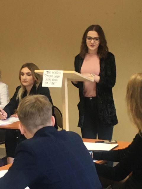 Oglądasz fotografię z artykułu: Debata Oksfodzka w Zespole Szkół Budowlanych