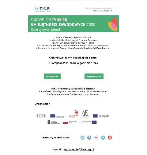 Oglądasz fotografię z artykułu: Europejski Tydzień  Umiejętności Zawodowych 2020