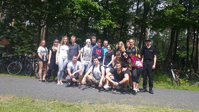Oglądasz fotografię z artykułu: Uczniowie ZSB na rajdzie rowerowym