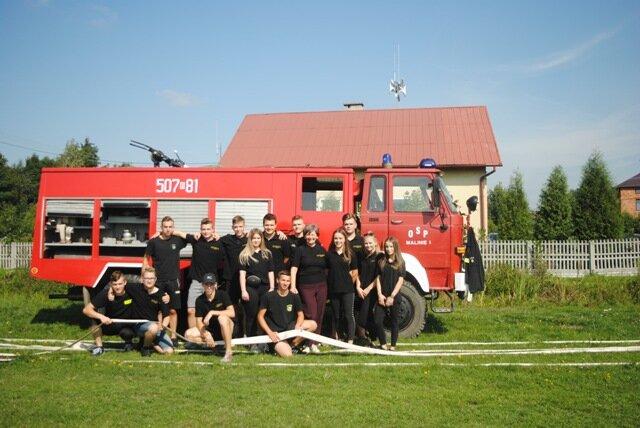 Oglądasz fotografię z artykułu: Zawody strażackie klas mundurowych z Zespołu Szkół Budowlanych w Mielcu